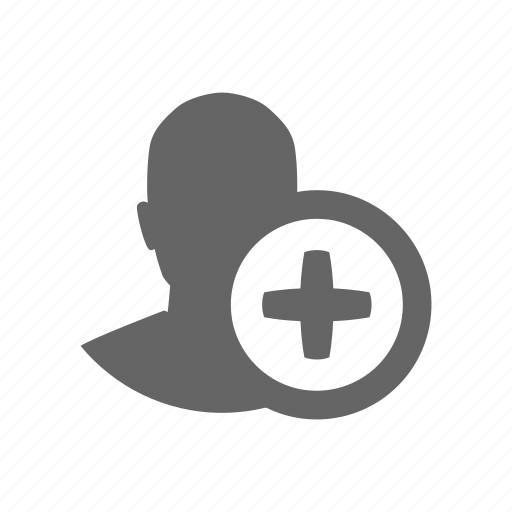 add, avatar, user icon