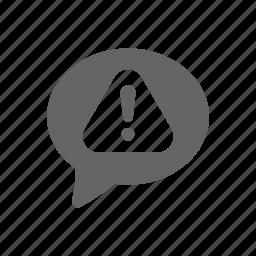 alert, bubble, chat, error icon