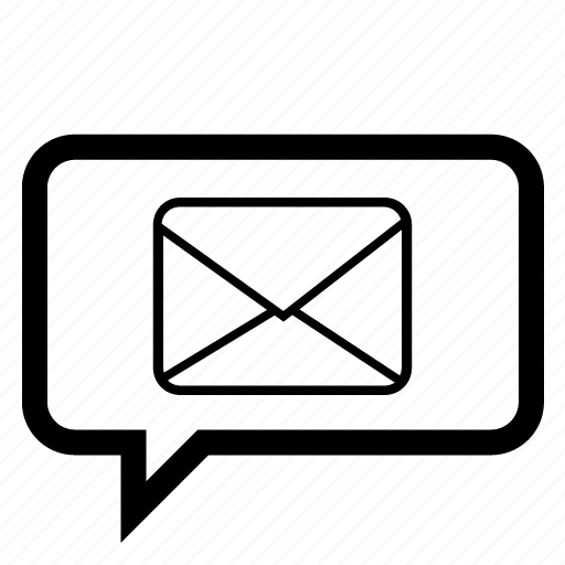 alert, bubble, chat, email, message, messege, speech icon