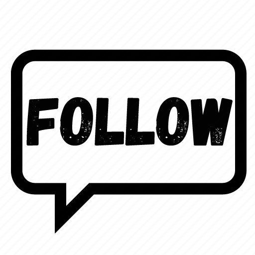 bubble, chat, follow, follow me, message, speech, twitter icon