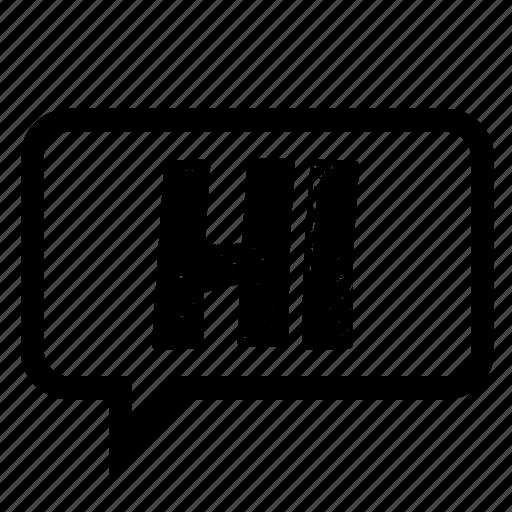 chat, facebook, hello, hi, media, message, social icon