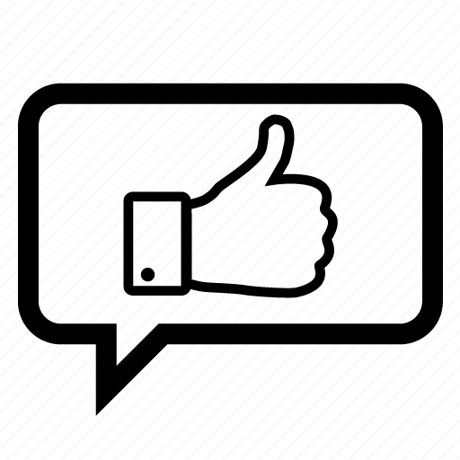 bookmark, bubble, chat, favorite, like, love, thumbs icon