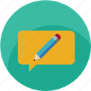 chat, communication, customer care, design, edit, message, notification icon