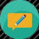 chat, communication, customer care, design, edit, message, notification