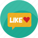 chat, customer care, favorite, good, heart, like, love icon