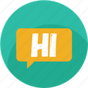 chat, comment, hello, hi, message, social, speech icon