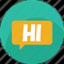 chat, comment, hello, hi, message, social, speech