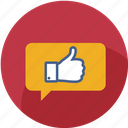 chat, favourite, good, like, love, thumbs, vote icon