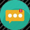 alert, bubble, chat, messege, notificacion, social