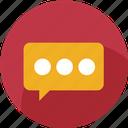 bubble, chat, comment, communication, message, social, mail