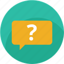 answer, ask, chat, help, question, speech, support icon