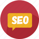 bubble, business, chat, marketing, message, seo, social icon