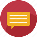 chat, communication, customer care, message, notification, support, text icon