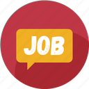 chat, job, message, notification, social, work, mail