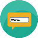 browser, chat, contact us, internet, url, website, www