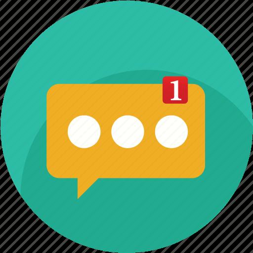 alert, bubble, chat, facebook, messege, notificacion, social icon