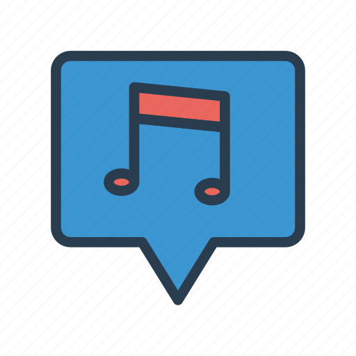 media, melody, message, music, song icon