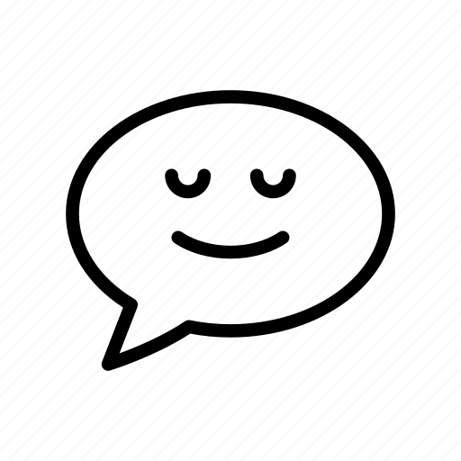 bubble, chat, face, message, smiley icon