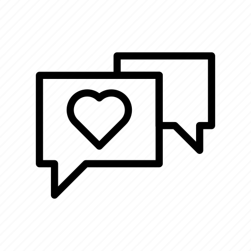 bubble, chat, favorite, love, message icon