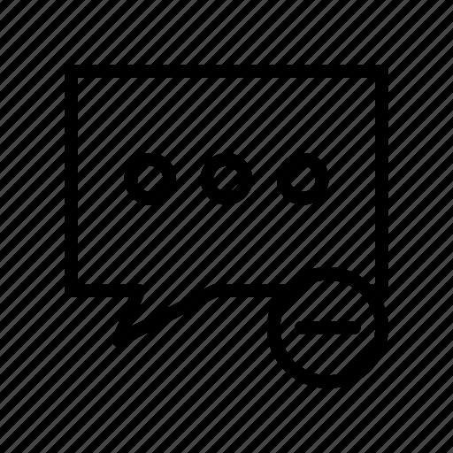 bubble, chat, conversation, message, remove icon