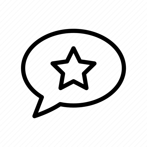 bubble, comment, favorite, message, star icon