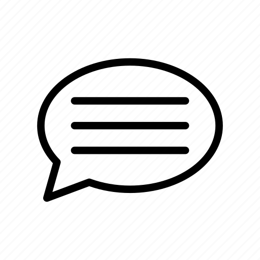 bubble, chat, message, notification, test icon
