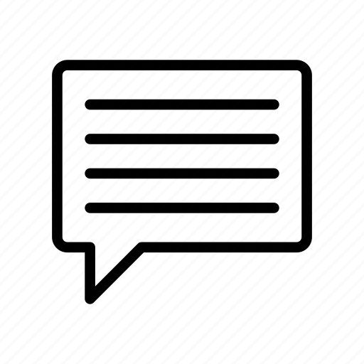 bubble, chat, comment, message, text icon
