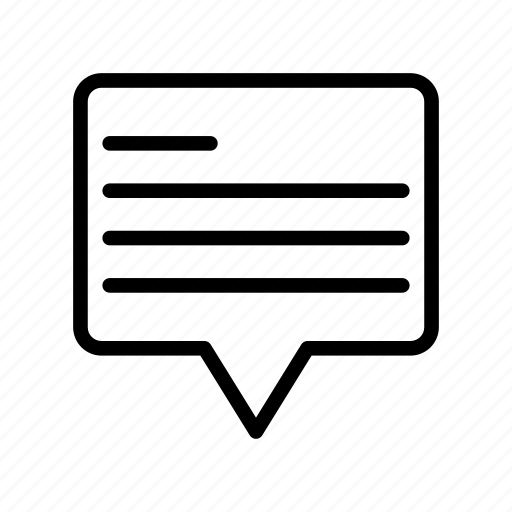chat, conversation, discussion, message, text icon