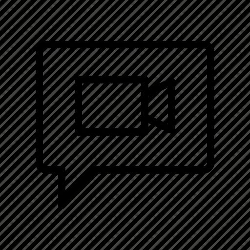 bubble, chat, conversation, message, video icon