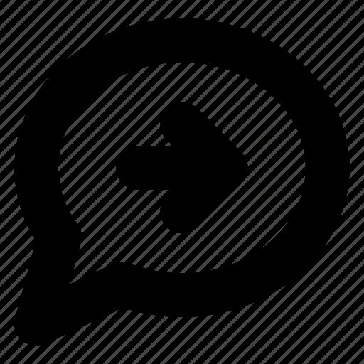 bubble, chat, comment, conversation, forward, message icon
