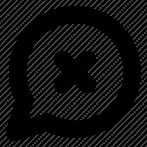 bubble, chat, close, comment, conversation, delete, message icon