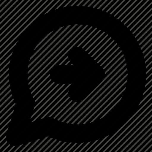 bubble, chat, comment, conversation, forward, message, send icon