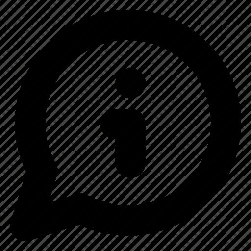 bubble, chat, comment, conversation, info, information, message icon