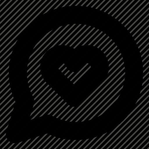 bubble, chat, comment, conversation, favorite, heart, message icon