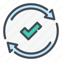 accept, approved, check, mark, ok, tick, update icon