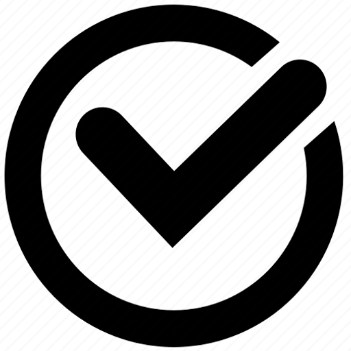 checkmark, ok, time, yes icon