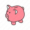 bank, pig, piggy bank, save icon