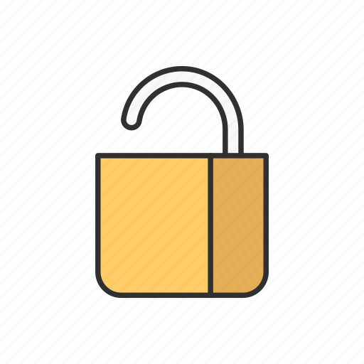 padlock, public, unlock, unsecured icon