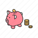 piggy bank, money, save, bank