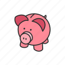 bank, money, piggy bank, save icon