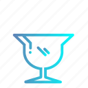 cup, drink, glass, glasses, glassware, icecream, wine icon