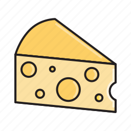 cheese, dairy, emmental, food, gourmet, maasdam, swiss icon