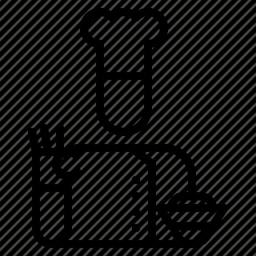 avatar, chef, cooking, figure, man, ok, restaurant icon