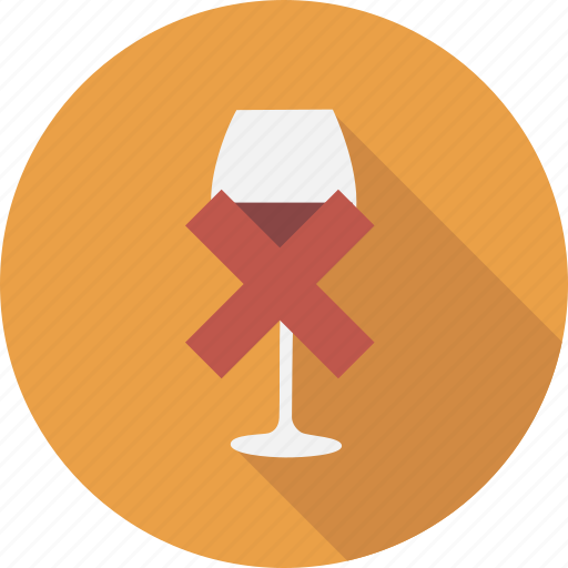 alcohol, bar, drink, free, glass, no, wine icon