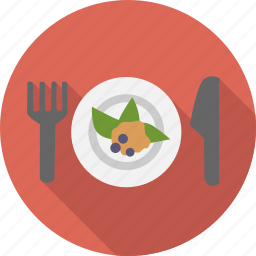 appetizer, breakfast, cooking, diet, food, fork, knife, meal icon