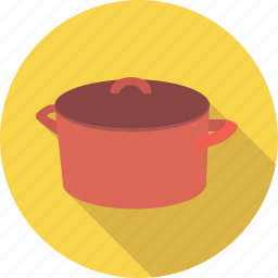 boiling, casserole, cook, cooking, dinner, dish, food, kitchen, pan, pot, restaurant icon