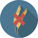celiac, ceral, eating, food, free, gluten, ingredient, wheat icon