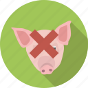 eating, food, no, pig, pork, prohibited, restricted icon