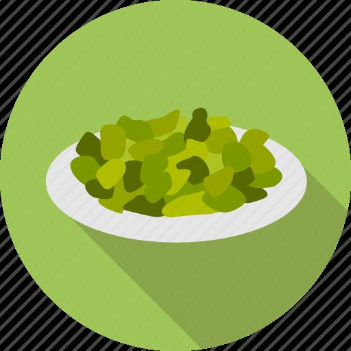 eating, food, green, healty, lettuce, salad, vegetarian icon