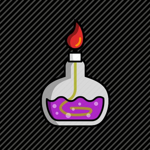 alcohol lamp, bunsen burner, chemical, chemistry, laboratory, laboratory tool, science icon